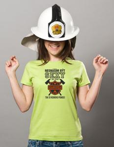 Dámské sportovní tričko Sexy hasička