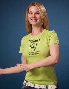 Dámské sportovní tričko Fitness zábava