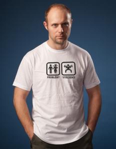 Pánské sportovní tričko Fitness problem