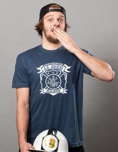 Pánské sportovní tričko Neobyčejný hasič