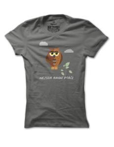 Dámské tričko s potiskem Ranní ptáče