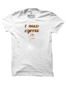 Pánské tričko s potiskem I need coffee