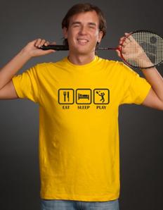 Pánské sportovní tričko Badminton eat