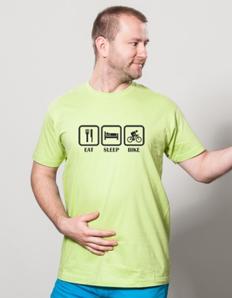 Pánské sportovní tričko Cyklistika eat