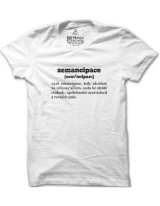 Pánské tričko s potiskem Zemancipace