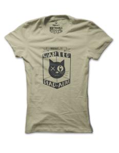 Dámské tričko s potiskem Kočka pana Schrodingera