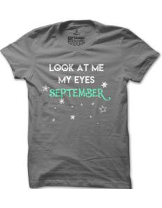 Pánské tričko s potiskem My eyes september