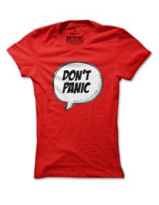 Dámské tričko s potiskem Panic