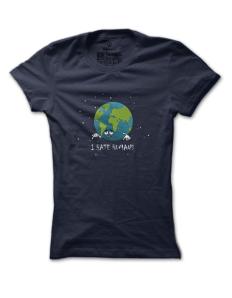 Dámské tričko s potiskem Zeměkoule