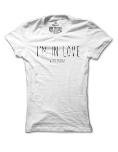 Dámské tričko s potiskem Friday lover