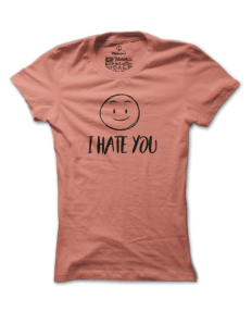 Dámské tričko s potiskem Roztomilý hater