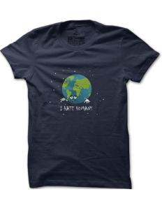 Pánské tričko s potiskem Zeměkoule