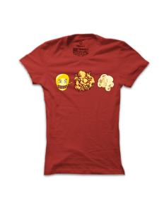 Dámské tričko s potiskem Popcorn
