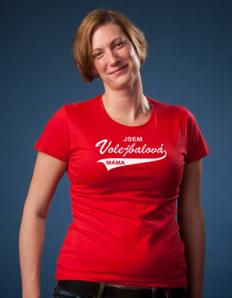 Dámské tričko Volejbalová máma