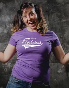 Dámské tričko Florbalová máma