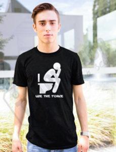 Pánské tričko s potiskem Use The Force