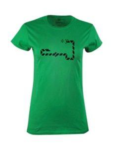 Dámské tričko s potiskem Retro snake