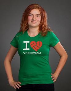 Dámské sportovní tričko Volejbal srdce