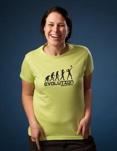 Dámské tričko Volejbal evoluce