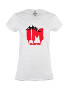 Dámské tričko s potiskem I´m bleeding