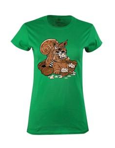 Dámské tričko s potiskem Zombie veverka
