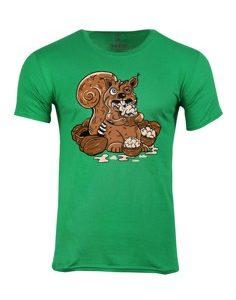 Pánské tričko s potiskem Zombie veverka