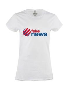 Dámské tričko s potiskem Fake news