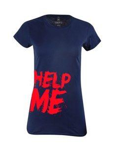 Dámské tričko s potiskem Help me