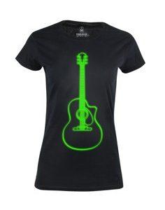 Dámské tričko s potiskem Neon guitar