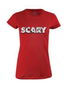 Dámské tričko s potiskem Scary