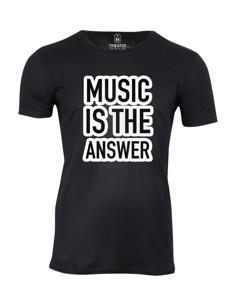 Pánské tričko s potiskem Music is the answer