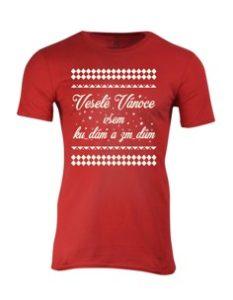 Pánské tričko s potiskem Veselé Vánoce všem