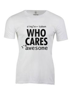 Pánské tričko s potiskem Who cares