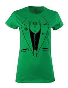 Dámské tričko s potiskem Irish taxido