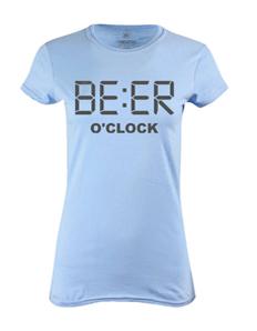 Dámské tričko s potiskem Beer o´clock