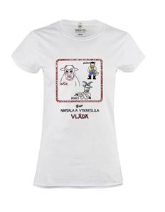 Dámské tričko s potiskem Vláda 2K19