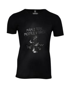 Pánské tričko s potiskem Motýle v břiše