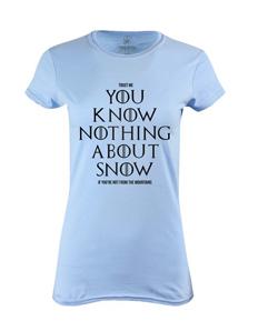 Dámské tričko s potiskem Don´t know snow