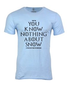 Pánské tričko s potiskem Don´t know snow