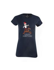 Dámské tričko s potiskem Merry Craftmas