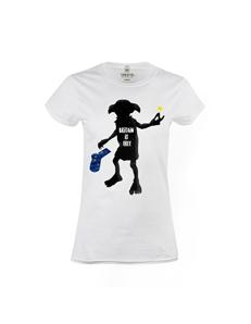 Dámské tričko s potiskem Dobby is free