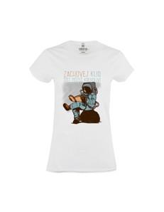 Dámské tričko s potiskem Čti kdekoliv
